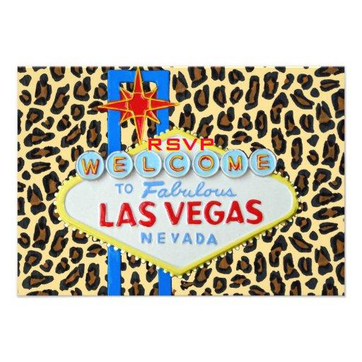 Las Vegas Reception RSVP Leopard Fur Announcement