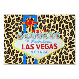 Las Vegas Reception RSVP Leopard Fur Card