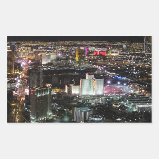 Las Vegas Rectangular Pegatinas
