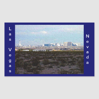 Las Vegas Rectangular Sticker