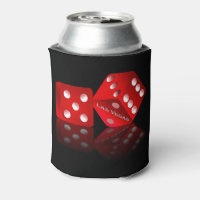 Las Vegas Red Dice Can Cooler