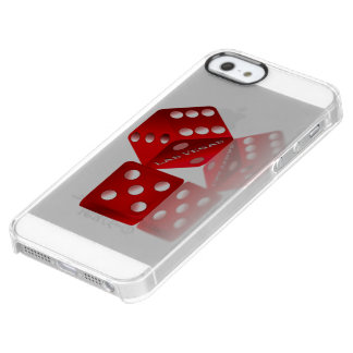 Las Vegas Red Dice Clear iPhone SE/5/5s Case