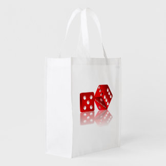 Las Vegas Red Dice Grocery Bag