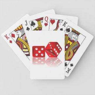 Las Vegas Red Dice Poker Cards