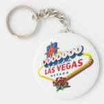 Las Vegas Red Roses Wedding Keychain