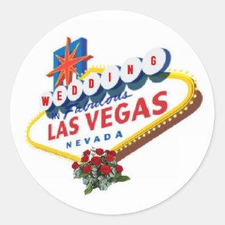Las Vegas Red Roses Wedding Sticker