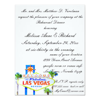 Las Vegas Rehearsal Dinner Personalized Announcement