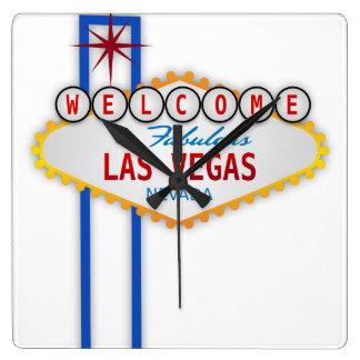 Las Vegas Reloj Cuadrado