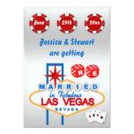 Las Vegas Renewal of  Wedding Vows 5x7 Paper Invitation Card
