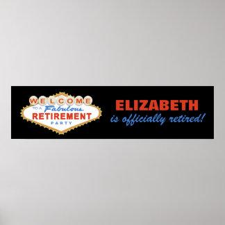 Las Vegas Retirement Party Banner Poster