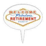 Las Vegas Retirement Party Cake Topper