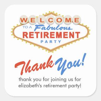 Las Vegas Retirement Party Favor Stickers
