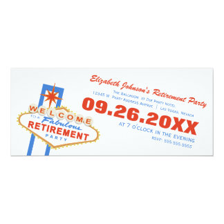 Las Vegas Retirement Party Invitation