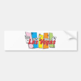 Las-Vegas-Retro Car Bumper Sticker