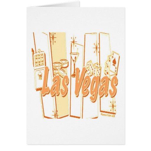 Las Vegas retro Felicitación