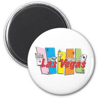 Las Vegas Retro Fridge Magnet