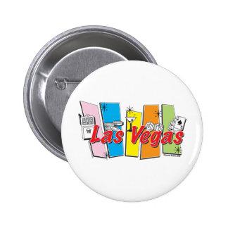 Las-Vegas-Retro Pin Redondo De 2 Pulgadas