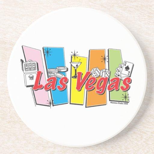 Las-Vegas-Retro Posavaso Para Bebida