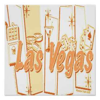 Las Vegas Retro Poster