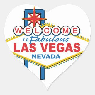 Las Vegas Retro Sign Heart Sticker