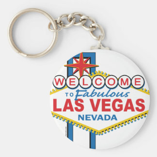 Las Vegas Retro Sign Keychain