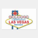 Las Vegas Retro Sign Rectangle Sticker