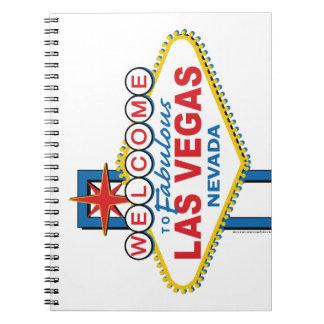 Las Vegas Retro Sign Spiral Notebook