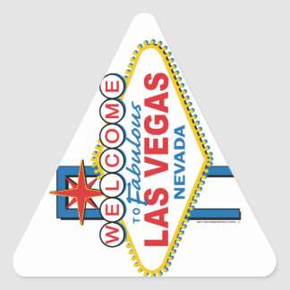 Las Vegas Retro Sign Triangle Sticker