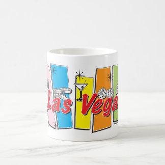Las Vegas retro Taza