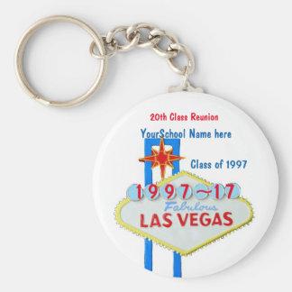Las Vegas Reunion Souvenir Basic Round Button Keychain
