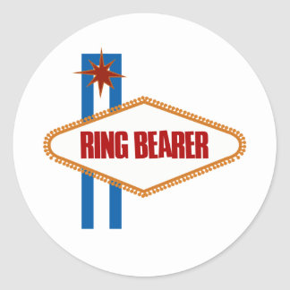 Las Vegas Ring Bearer Round Sticker