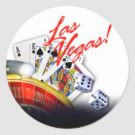 Las Vegas Roulette Cards and Dice | white Sticker