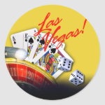 Las Vegas Roulette Cards and Dice | yellow Sticker