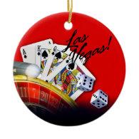 Las Vegas Roulette Wheel | red Ornament