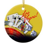 Las Vegas Roulette Wheel | yellow Ornaments
