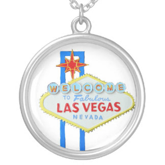 Las Vegas Round Pendant Necklace