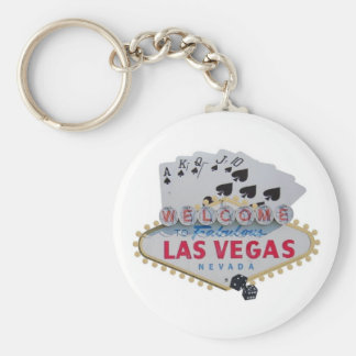 Las Vegas Royal Flush Keychain with set of dice