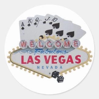 Las Vegas Royal Flush with dice Sticker