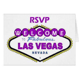 Las Vegas RSVP Card