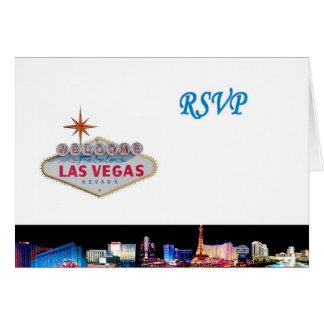 Las Vegas RSVP Card White Background