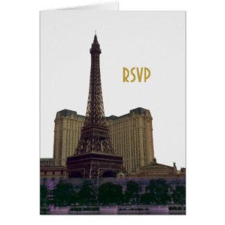 Las Vegas RSVP Eiffel Tower Card