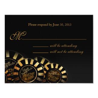 Las Vegas RSVP (éntreme en contacto con para Invitación 10,8 X 13,9 Cm