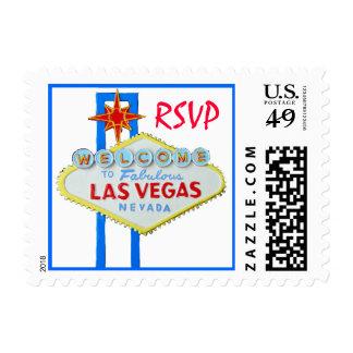 Las Vegas RSVP invitation Postage Stamps