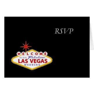 Las Vegas RSVP Wedding Card