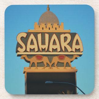 Las Vegas Sahara Casino Landmark Architecture Beverage Coaster