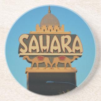 Las Vegas Sahara Casino Landmark Architecture Coaster