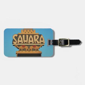 Las Vegas Sahara Casino Landmark Architecture Luggage Tag
