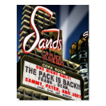 Las Vegas Sands Hotel Retro Neon Postcard