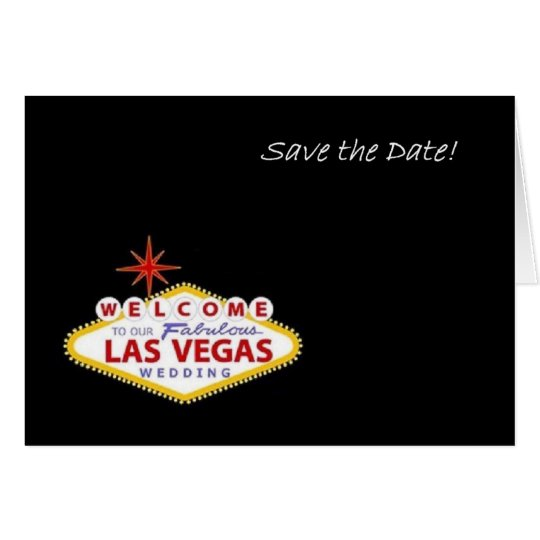 Las Vegas Save the Date! Announcement Card!