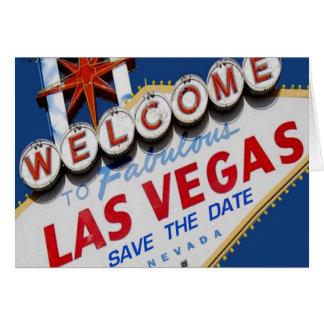 Las Vegas SAVE THE DATE Card